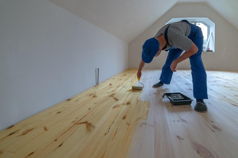 varnished floor